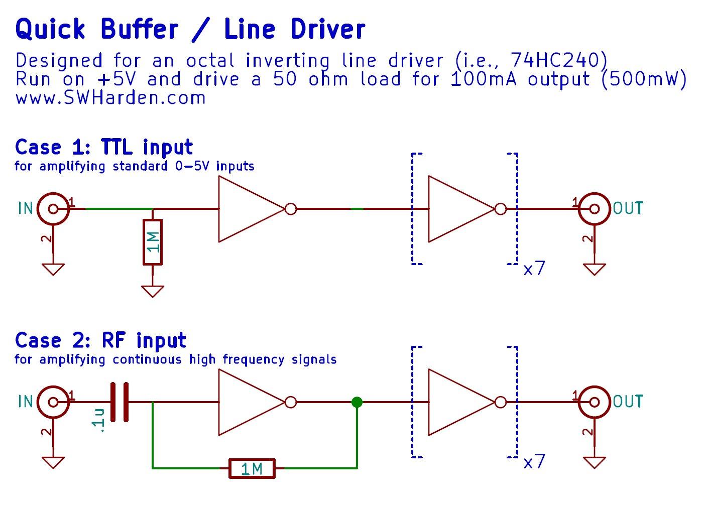 Breadboard Line Driver Module  U2013 Swharden Com